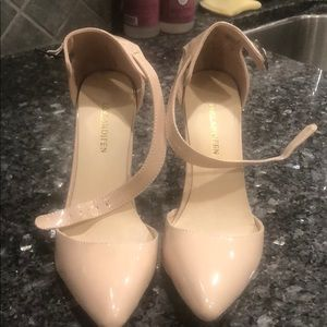 Shoes - Brand new, never worn beige closed toe ankle strap